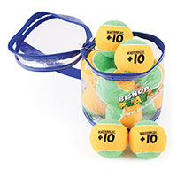 MASTERPLAY +10 MINI TENNIS BALL, ORANGE/GREEN